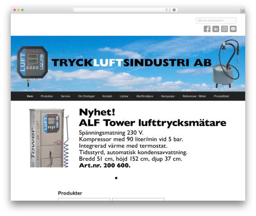Catch Flames Pro top WordPress theme - tryckluftsindustri.se