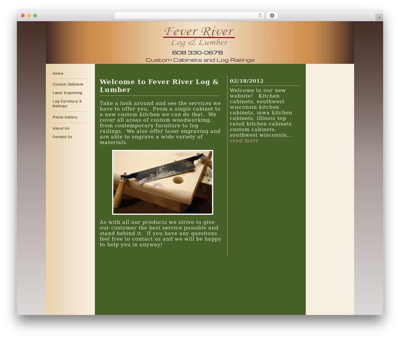 CC Woody WordPress template - frloglumber.com