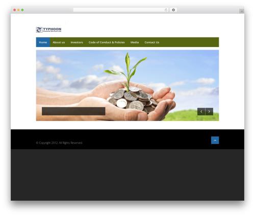Centum WordPress theme - typhoonfinancial.com