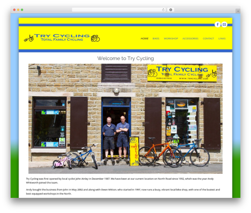 Circumference WP theme - trycycling.co.uk
