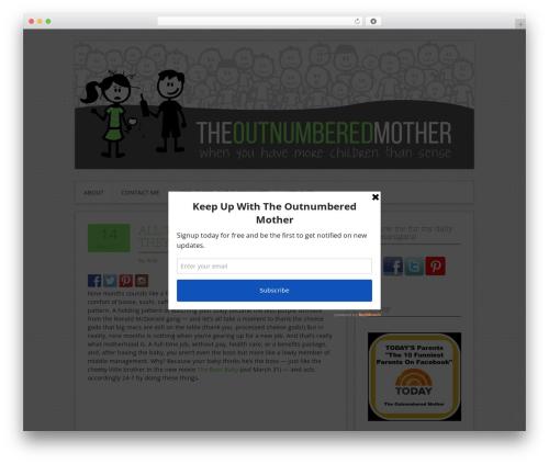 Contango best WordPress theme - theoutnumberedmother.com