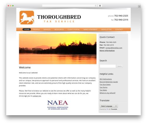 Customized WP template - thoroughbredtaxservice.com