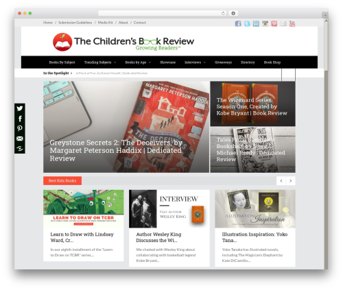 Discussion WordPress theme - thechildrensbookreview.com