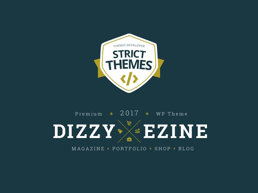 Dizzy WordPress shopping theme