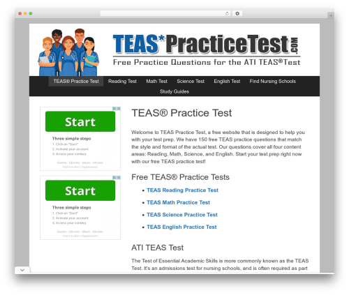 GeneratePress best free WordPress theme - teaspracticetest.com