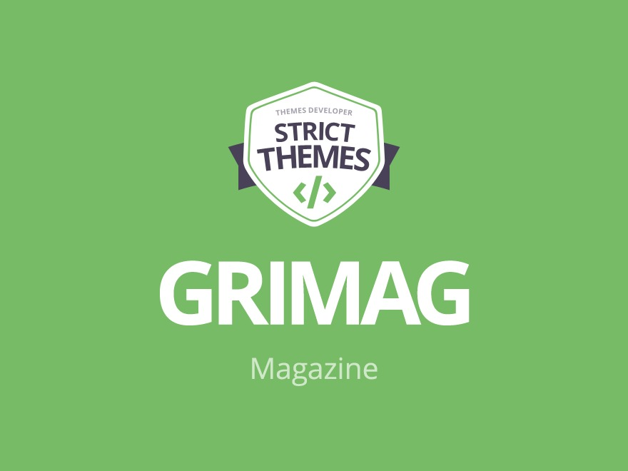 WP theme Grimag (shared on wplocker com) by StrictThemes