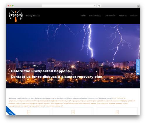 Hookie WordPress theme design - tarantech.co.uk