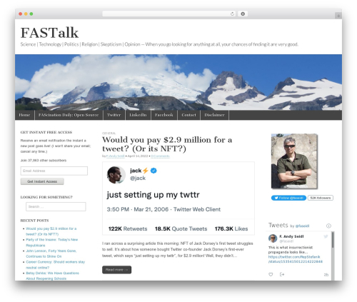 Magazine Basic WordPress news template - talk.faseidl.com