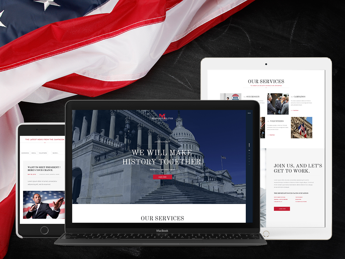 McKinney Politics WordPress blog template