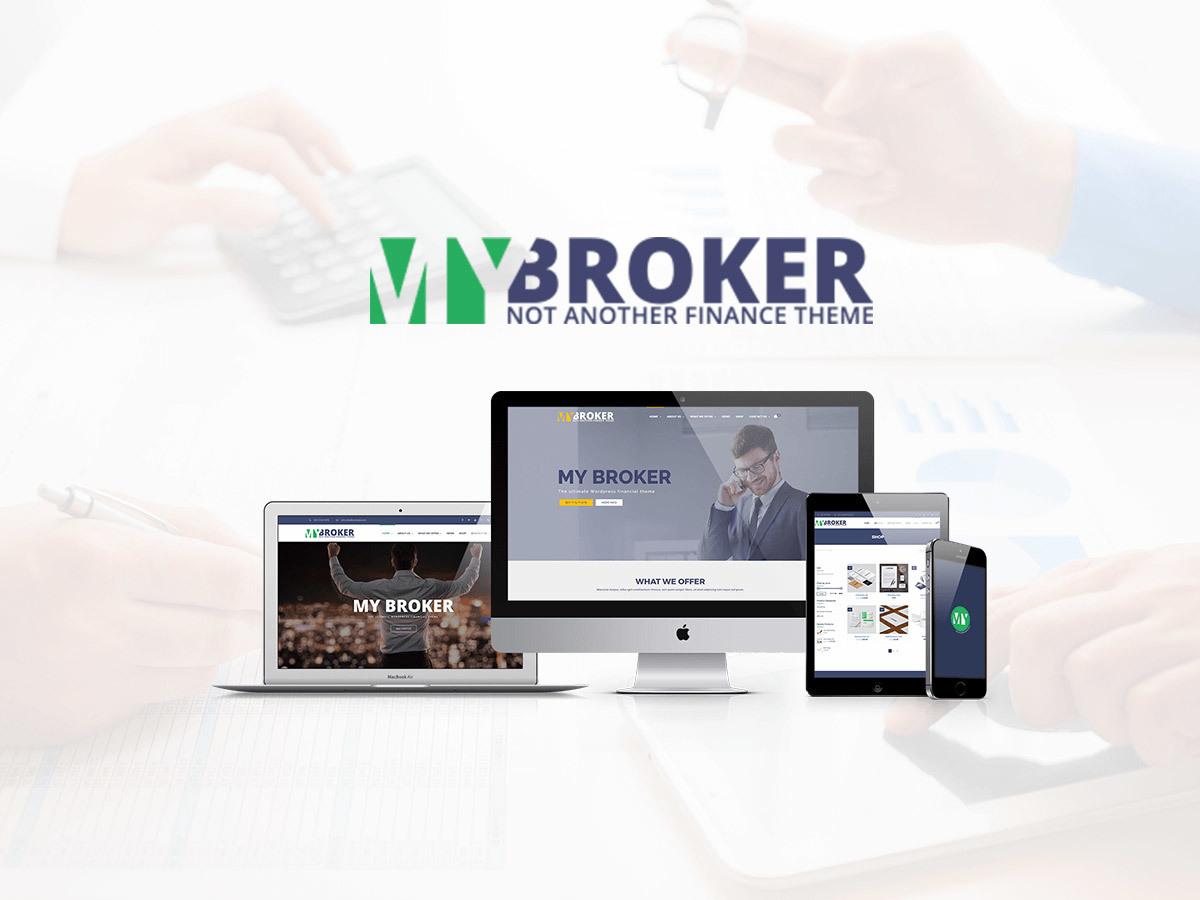 MyBroker business WordPress theme