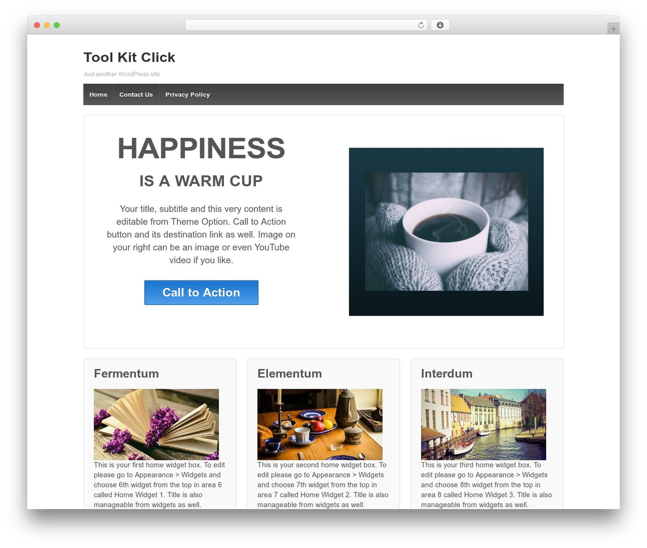 Responsive free WordPress theme - toolkitclick.com