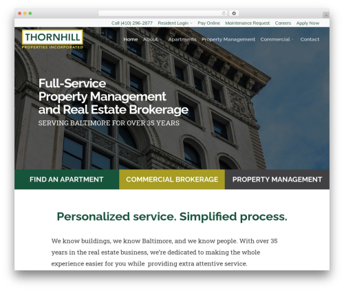 Salient top WordPress theme - thornhillbaltimore.com