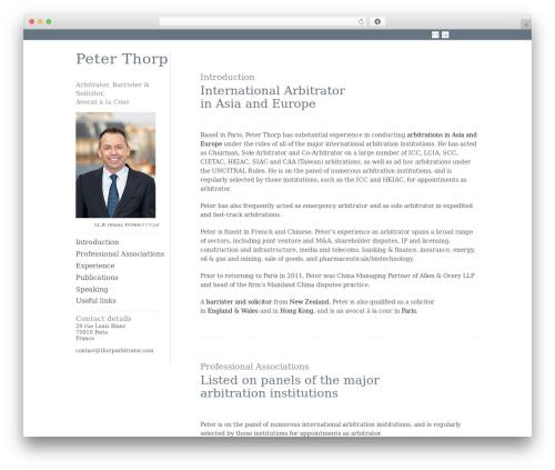 ShapeShifter 2 WordPress website template - thorparbitrator.com