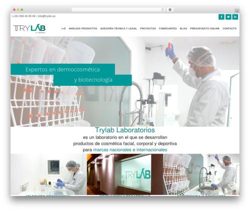 Swatch WordPress website template - trylab.es