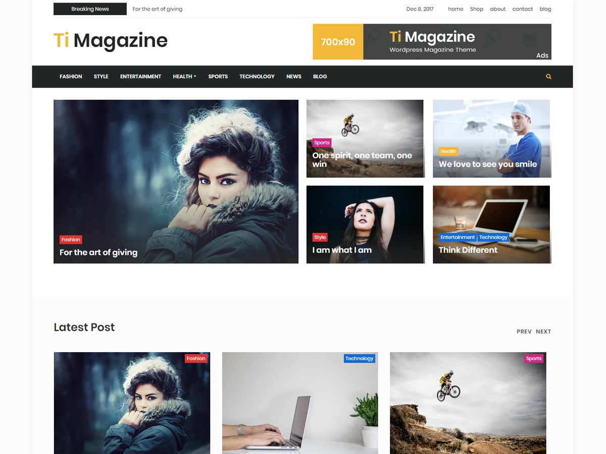 timagazine best WordPress magazine theme