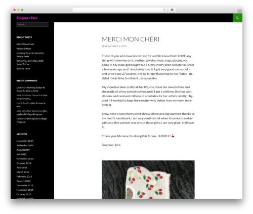 Twenty Fourteen WordPress free download - taraschnitzer.com