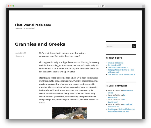Twenty Sixteen template WordPress free - travel.discretecosine.com