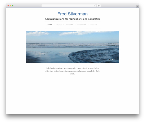 Writer best free WordPress theme - fesilverman.com