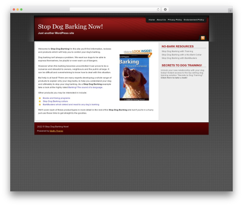 Affiliate Internet Marketing theme WordPress theme - stop-dog-barking.org