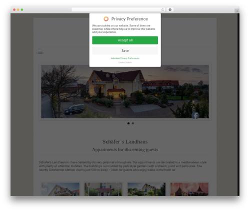 Betheme best WordPress template - schaefers-landhaus.de