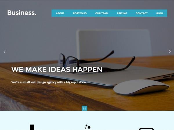 Business company WordPress theme