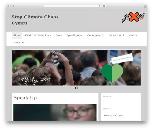 Coller WordPress website template - stopclimatechaoscymru.org