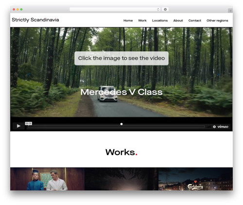 Light Dose WordPress page template - scandinavia.strictlyproduction.com