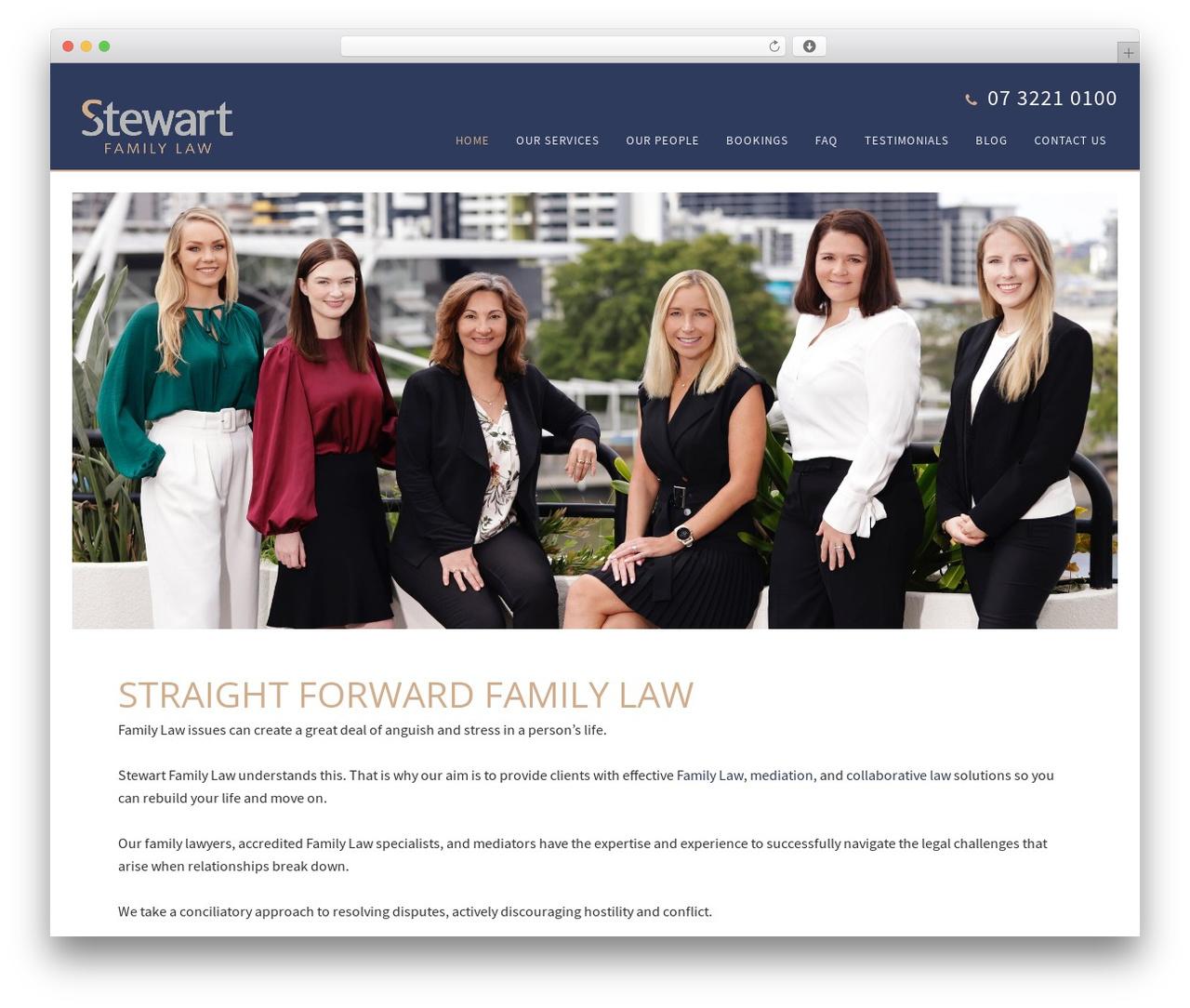 Minimum Pro Child 001 business WordPress theme - stewartfamilylaw.com.au