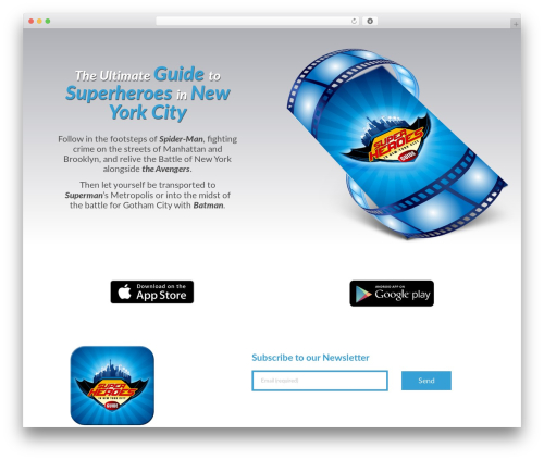 Tapptastic Child premium WordPress theme - superheroesinnyc.com