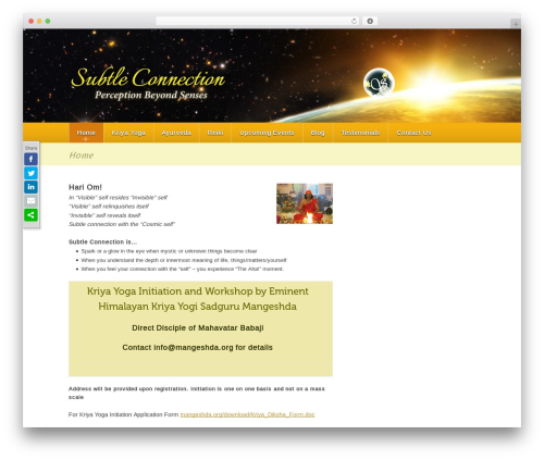 Theme WordPress page template - subtleconnection.com