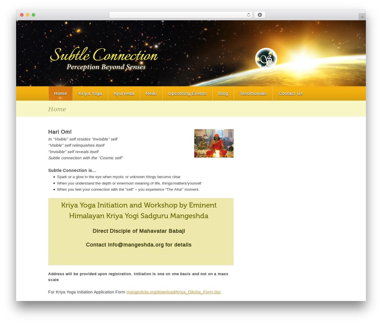Theme WordPress page template - subtleconnection.com