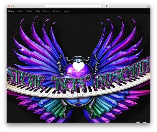 Arcade Basic WordPress theme design - steviekeys.com