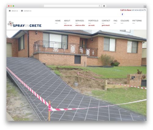 Arkitekt theme WordPress - sprayoncrete.com.au