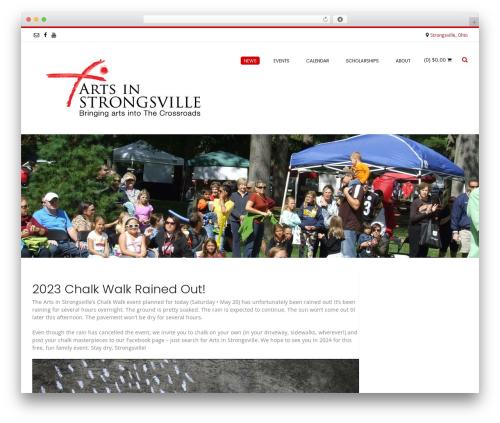 Best WordPress theme Conica - strongsvillearts.org