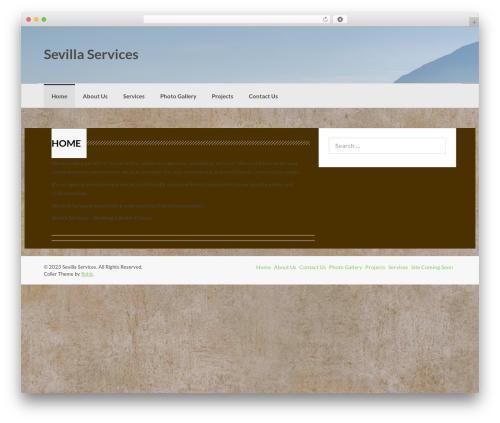 Coller free WP theme - sevillaservices.com