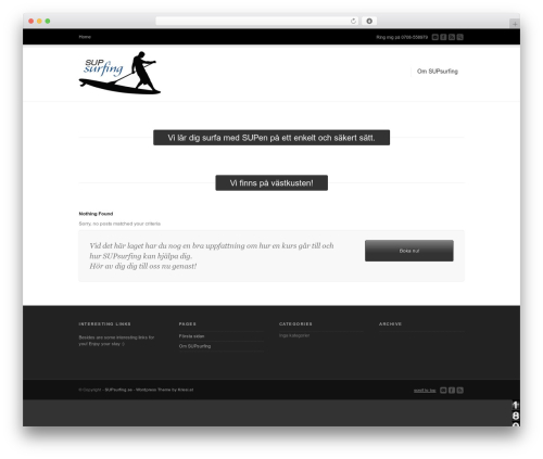 Corona theme WordPress - supsurfing.se