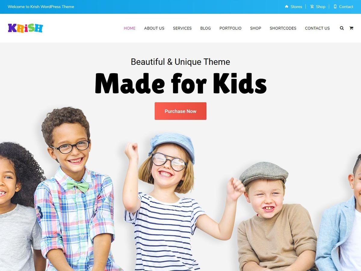 Krish Child WordPress page template
