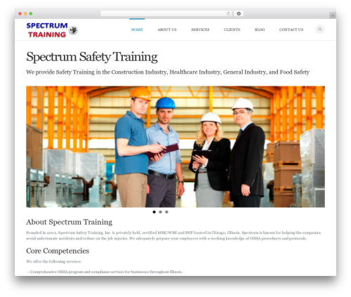 Mexin WP theme - spectrumsafetytraining.com