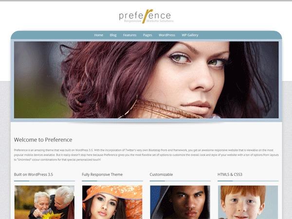 Preference Lite photography WordPress theme