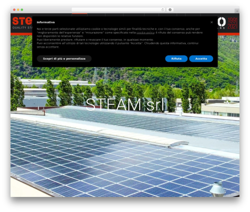Salamat WordPress theme - steamsrl.com