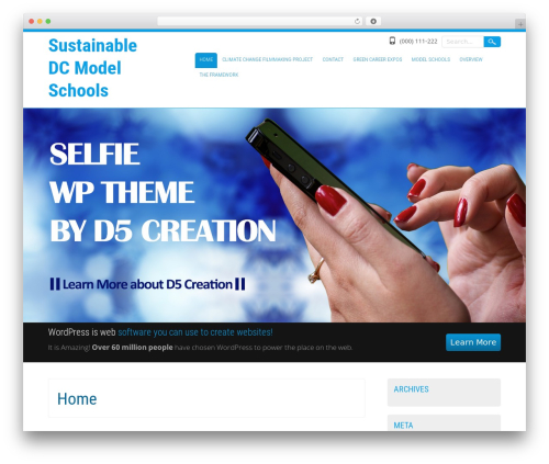Selfie WordPress theme - sustainabledcschools.org