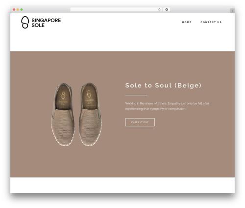 Stockholm WordPress page template - singaporesole.com
