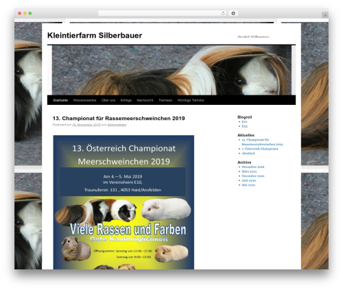Twenty Ten free WordPress theme - silberbauerskleintierfarm.at