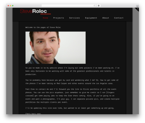 WordPress website template X - steveroloc.com