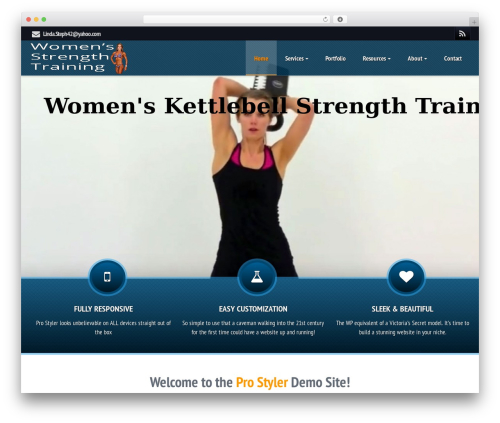 Best WordPress theme ProStyler Child Theme - strengthtrainingwomenct.com