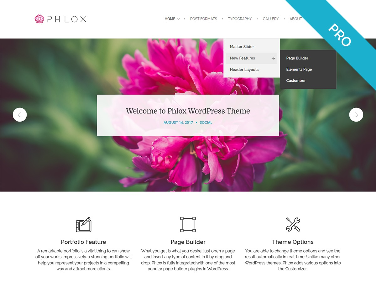 Phlox Pro business WordPress theme
