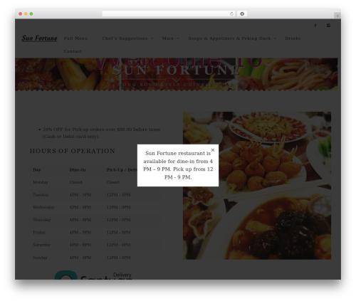 Rosa (shared on wplocker.com) WordPress restaurant theme - sunfortunerestaurant.com