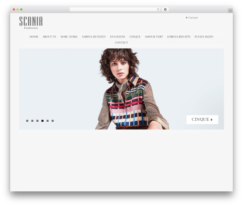 Stay fashion WordPress theme - scaniafashions.com
