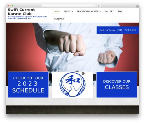 Template WordPress Martial Arts V8 - swiftcurrentkarateclub.com