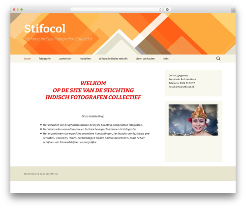Twenty Thirteen free WordPress theme - stifocol.nl